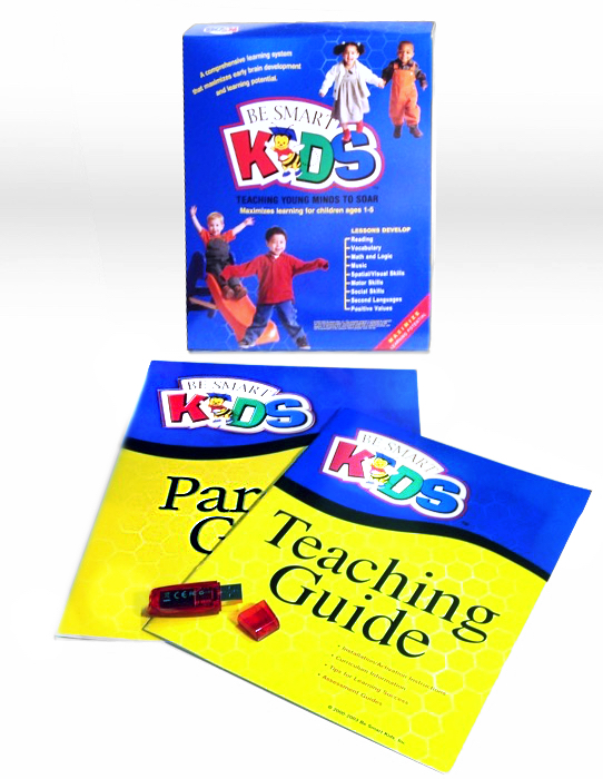 The physical box, booklets and usb stick for Be Smart Kids Professionals